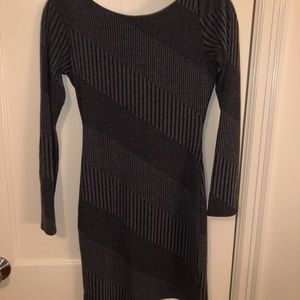 Soprano grey/black sweater dress